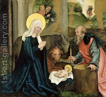 The Birth of Christ by Hans Leonhard Schaufelein - Reproduction Oil Painting