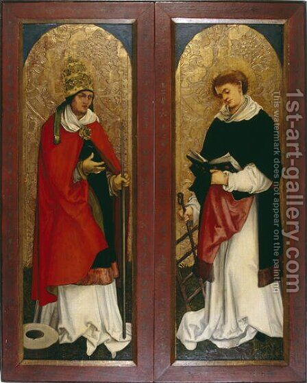 Two Wings of an Altarpiece of Deacons, c.1508-1510 by Hans Leonhard Schaufelein - Reproduction Oil Painting