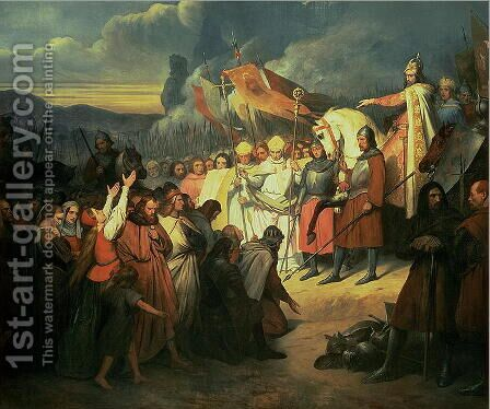 Charlemagne 742-814 Received at Paderborn Under the Rule of Witikind in 785 by Ary Scheffer - Reproduction Oil Painting
