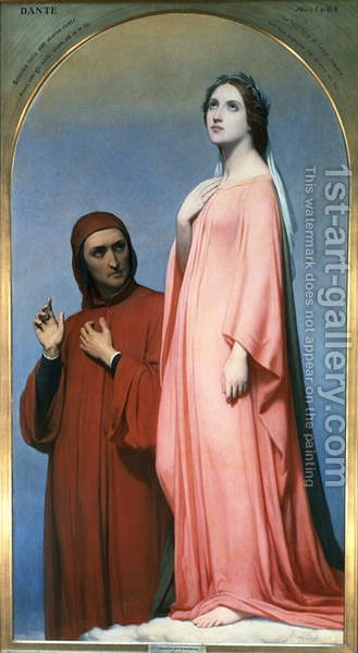 The Vision Dante and Beatrice, 1846 by Ary Scheffer - Reproduction Oil Painting