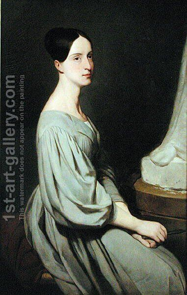 Marie of Orleans 1813-39 Duchess of Wurtemberg by Ary Scheffer - Reproduction Oil Painting