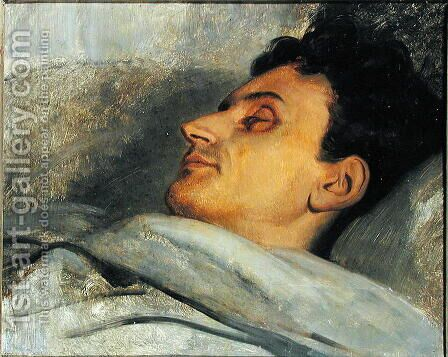Armand Carrel 1800-36 on his Deathbed, 1836 by Ary Scheffer - Reproduction Oil Painting