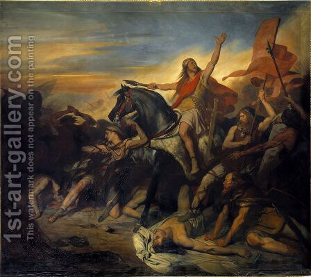 Battle of Tolbiac in AD 496, 1837 by Ary Scheffer - Reproduction Oil Painting