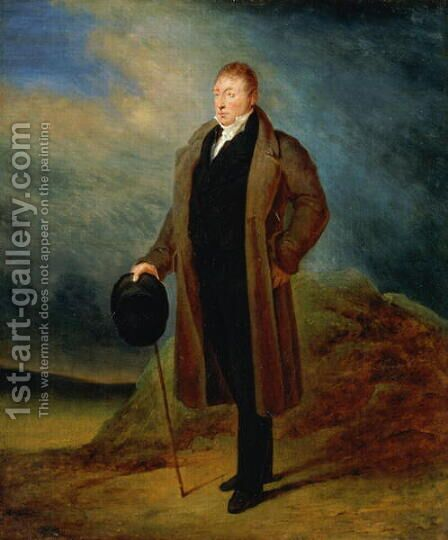 Portrait of General La Fayette in civilian dress, 1824 by Ary Scheffer - Reproduction Oil Painting