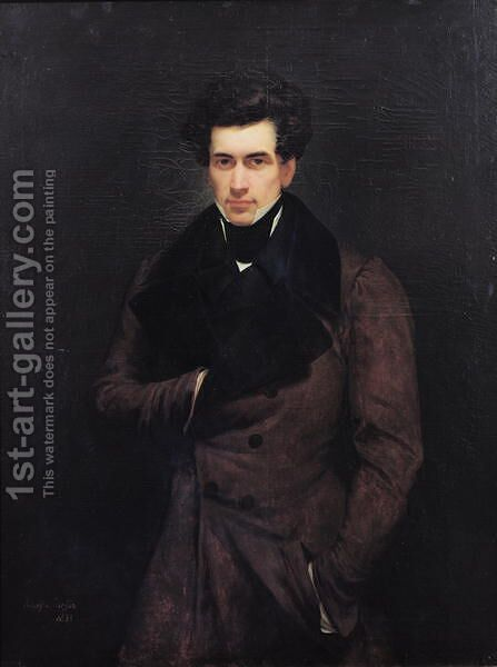 Armand Carrel 1800-36 by Ary Scheffer - Reproduction Oil Painting