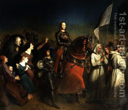 The Entry of Joan of Arc 1412-31 into Orleans, 8th May 1429, 1843 by Henry Scheffer - Reproduction Oil Painting