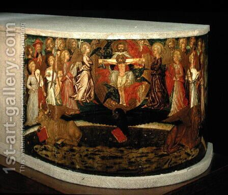 Triumph of Eternity, inspired by Triumphs by Petrarch 1304-74 by Giovanni di ser Giovanni Guidi (see Scheggia) - Reproduction Oil Painting