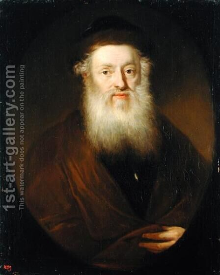 Portrait of a Rabbi, c.1709 by Andreas Scheits - Reproduction Oil Painting