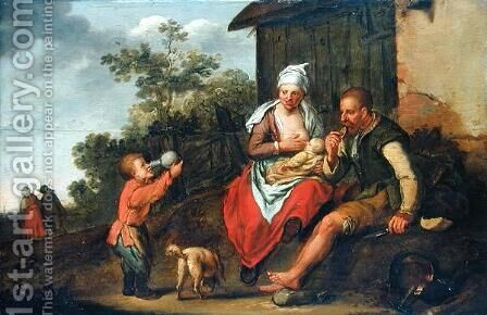 The Ironmonger and his family by Matthias Scheits - Reproduction Oil Painting