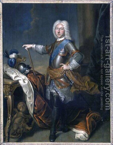Herzog Friedrich II, 1729 by Christian Schilbach - Reproduction Oil Painting
