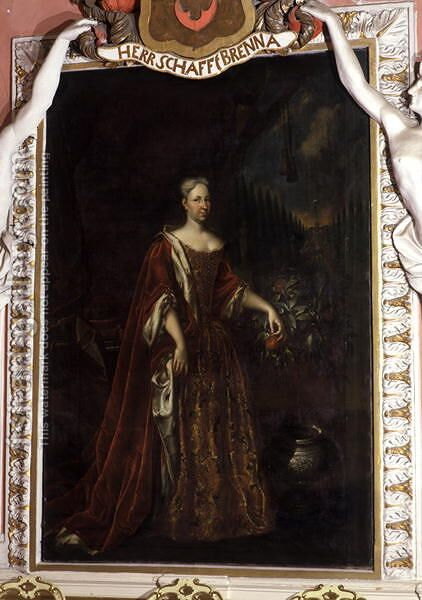 Magdalena Augusta, Duchess of Sachsen-Gotha-Altenburg, between 1708-32 by Christian Schilbach - Reproduction Oil Painting