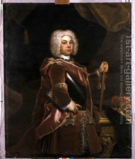 Friedrich III, Herzog of Saxe-Gotha-Altenburg, 1720 by Christian Schilbach - Reproduction Oil Painting