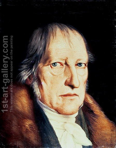 Portrait of Georg Wilhelm Friedrich Hegel 1770-1831, 1825 by Jacob Schlesinger - Reproduction Oil Painting