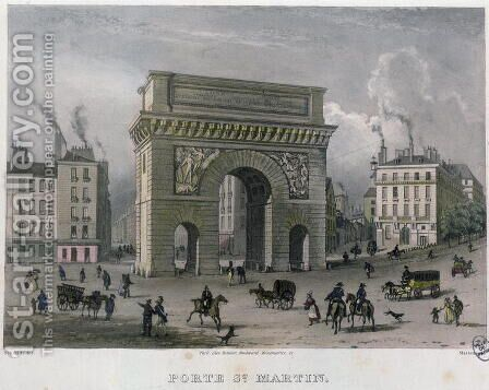 The Porte St. Martin, 1832 by (after) Schmidt, Bernhard - Reproduction Oil Painting