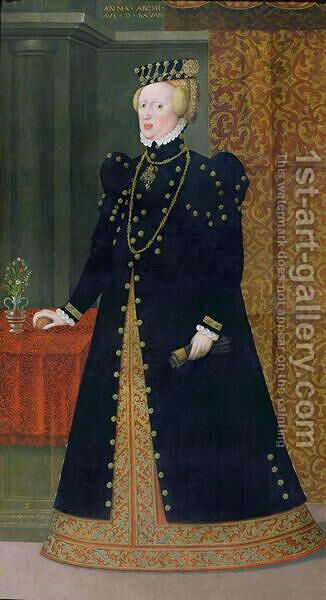 Portrait of Anna, Archduchess of Austria and Duchess of Bavaria 1528-90 daughter of Ferdinand I and wife of Albrecht of Bavaria, 1563 by Hans, the Younger Schoepfer or Schopfer - Reproduction Oil Painting
