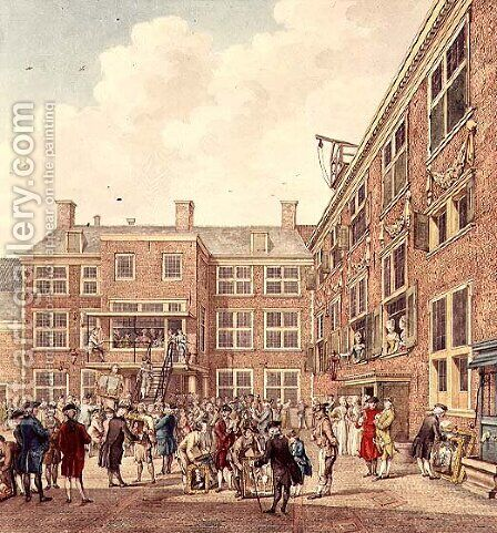 Oudezijdsheerenlogement, Amsterdam by Hubertus Petrus Schouten - Reproduction Oil Painting