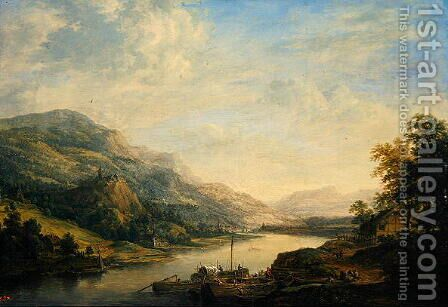 Main Region, Germany, c.1750 by Christian Georg the Elder Schuetz - Reproduction Oil Painting