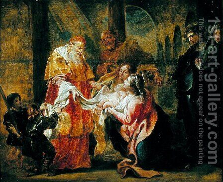The Presentation of the Virgin in the Temple by Cornelius I Schut - Reproduction Oil Painting