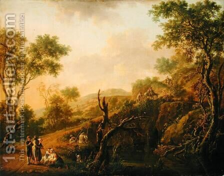 Italian Landscape by Hendrik Willem Schweickardt - Reproduction Oil Painting