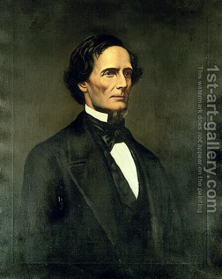 Jefferson Davis by Christian F. Schwerdt - Reproduction Oil Painting