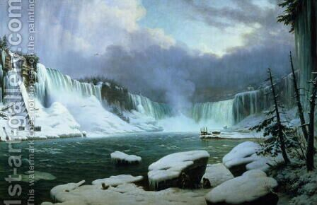 Niagara Falls by Hyppolyte Victor Valentin Sebron - Reproduction Oil Painting