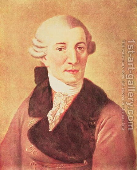 Joseph Haydn 1732-1809 by Christian Ludwig Seehas - Reproduction Oil Painting