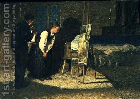 My Models, 1888 by Giovanni Segantini - Reproduction Oil Painting