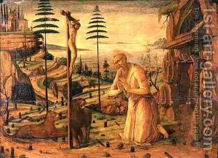 St. Jerome at Prayer, 1483 by Jacopo Del Sellaio - Reproduction Oil Painting