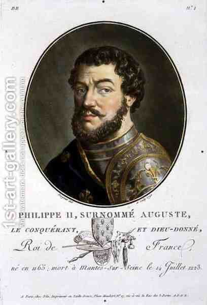 Portrait of Philip II, Called Augustus, King of France 1165-1223, 1790 by Antoine Louis Francois Sergent-Marceau - Reproduction Oil Painting