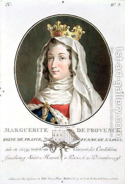 Portrait of Marguerite of Provence 1219-95, 1787 by Antoine Louis Francois Sergent-Marceau - Reproduction Oil Painting