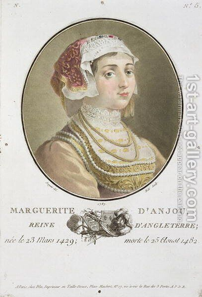 Marguerite dAnjou 1429-82 engraved by Ride, 1787 by Antoine Louis Francois Sergent-Marceau - Reproduction Oil Painting