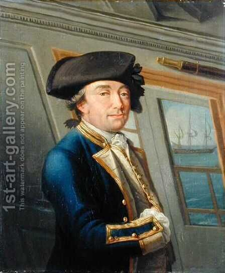 Portrait of Captain William Locker 1731-1800 1769 by Dominic Serres - Reproduction Oil Painting