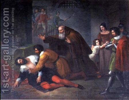 The Death of Filippo Strozzi by Benedetto Servolini - Reproduction Oil Painting