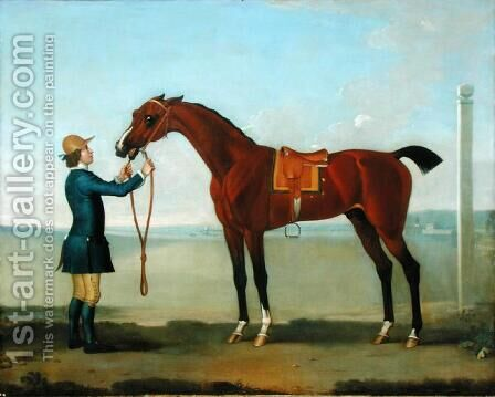 The Duke of Devonshires Flying Childers, 1742 by James Seymour - Reproduction Oil Painting