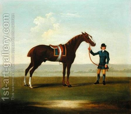 A Chestnut Horse by James Seymour - Reproduction Oil Painting