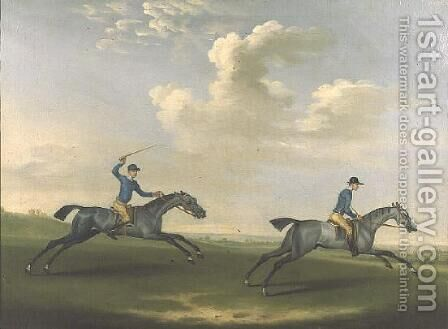 Two racehorses being exercised, 1737 by James Seymour - Reproduction Oil Painting