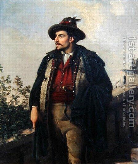 Young Italian, 1868 by Carl Maria Seyppel - Reproduction Oil Painting
