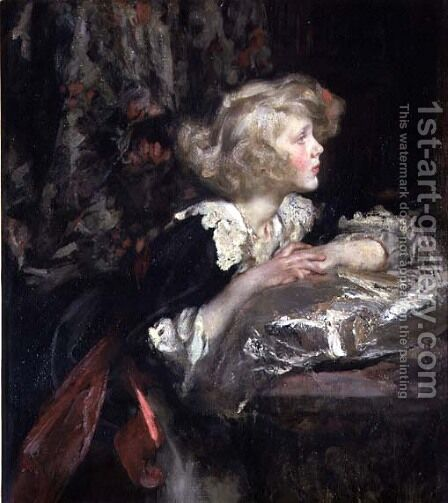 Portrait of Lady Diana Manners, later Lady Diana Cooper by James Jebusa Shannon - Reproduction Oil Painting
