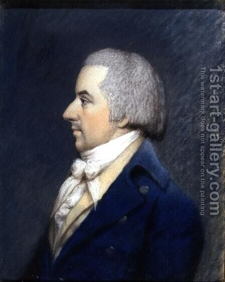 Portrait of Duc de Liancourt 1747-1827 by James Sharples - Reproduction Oil Painting