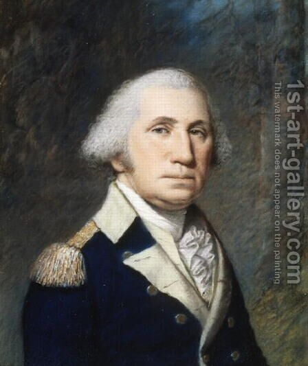 Portrait of George Washington, 1796-97 by James Sharples - Reproduction Oil Painting