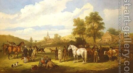 A Country Fair, 1875 by Charles Waller Shayer - Reproduction Oil Painting