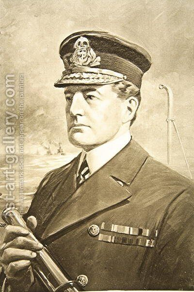 Vice-Admiral Sir David Beatty by Charles Mills Sheldon - Reproduction Oil Painting