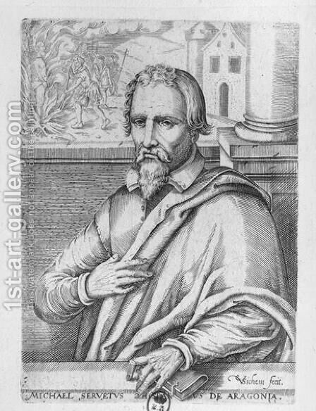 Michael Servetus 1511-53 by Christoffel van the Elder Sichem - Reproduction Oil Painting