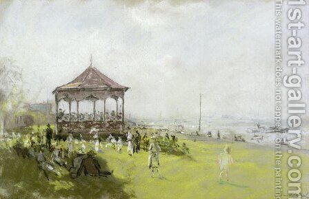 Figures near a Bandstand, 1922 by Bernard Sickert - Reproduction Oil Painting