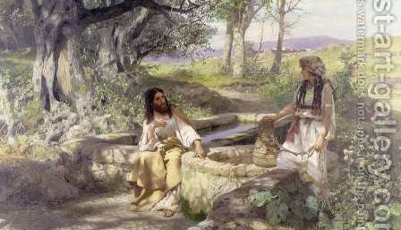 Christ and the Woman of Samaria, 1890 by Henryk Siemieradzki - Reproduction Oil Painting