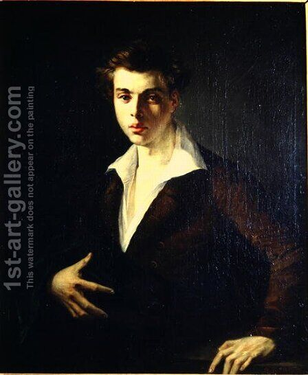 Self Portrait by Alexandre Francois Xavier Sigalon - Reproduction Oil Painting