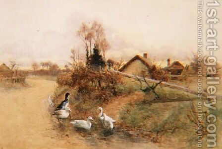 Dabbling Ducks by Benjamin D. Sigmund - Reproduction Oil Painting