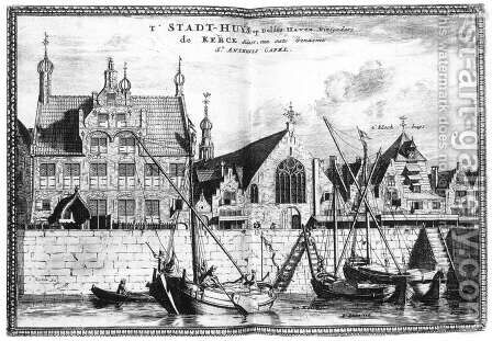 The Stadhuis of Delfshaven 1667-80 by Coenraet Decker - Reproduction Oil Painting