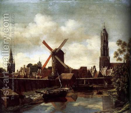 The Harbour of Delft 1658-60 by Daniel Vosmaer - Reproduction Oil Painting