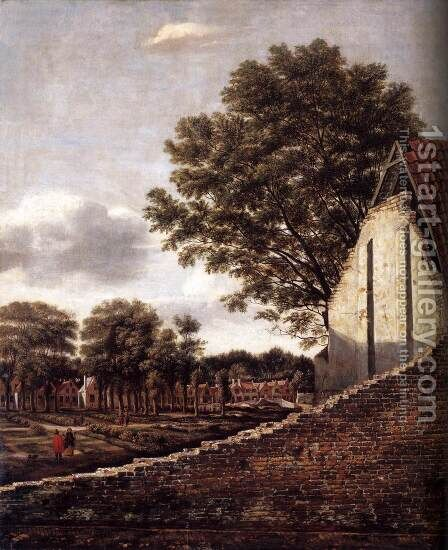 View of a Dutch Town 1661-63 by Daniel Vosmaer - Reproduction Oil Painting